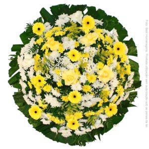 Coroa de Flores Tradicional Amarela
